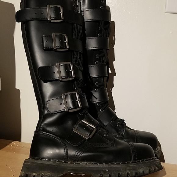 489f2b91632 Demonia Other - Demonia Riot 20 combat buckle boots